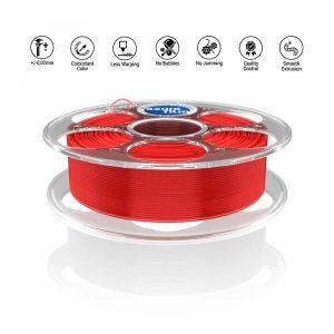 PLA Red Transparent 3D filament