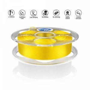 PLA Yellow transparent 3D filament
